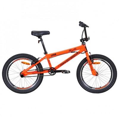 """Велосипед 20"""" AVENGER BMX C201B, оранжевый неон/синий (2021)"""